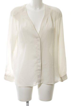 H&M Langarm-Bluse wollweiß schlichter Stil