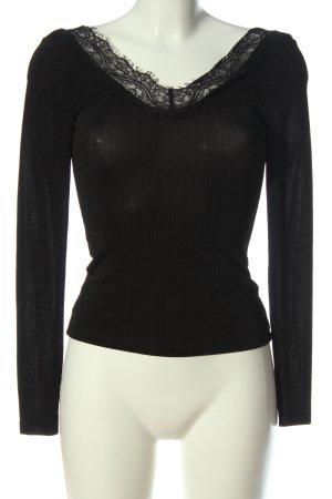 H&M Long Sleeve Blouse black elegant