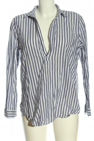 H&M Langarm-Bluse weiß-blau Streifenmuster Casual-Look