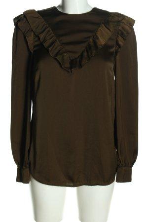 H&M Langarm-Bluse bronzefarben Elegant