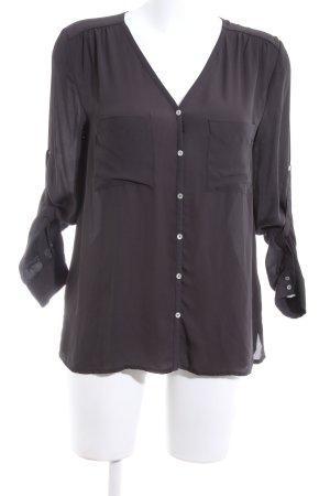 H&M Langarm-Bluse lila Business-Look