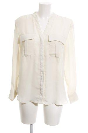 H&M Langarm-Bluse creme klassischer Stil