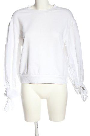 H&M Sweatshirt weiß Business-Look