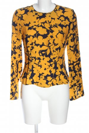 H&M Blusa de manga larga azul-naranja claro elegante
