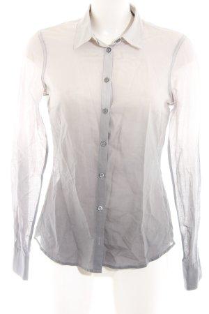 H&M Langarm-Bluse weiß-hellgrau Farbverlauf Business-Look