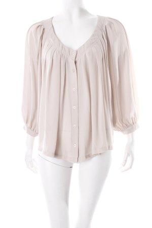 H&M Langarm-Bluse graubraun Transparenz-Optik