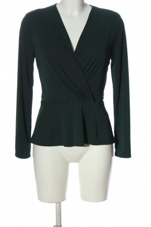 H&M Long Sleeve Blouse green business style