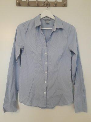H&M Langarm-Bluse hellblau gestreift