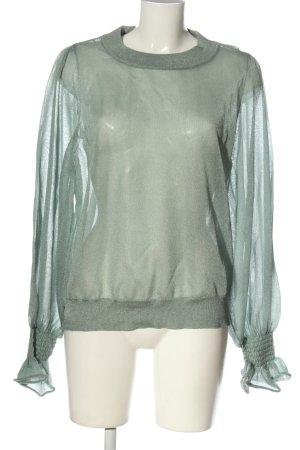 H&M Langarm-Bluse hellgrau Elegant