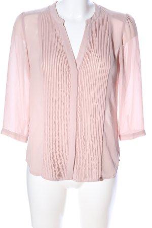 H&M Langarm-Bluse pink Business-Look
