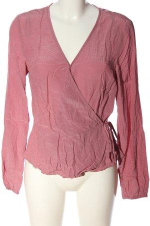 H&M Langarm-Bluse pink Elegant