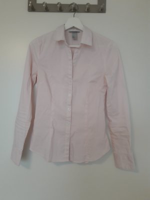 H&M Langarm-Bluse rosa gestreift