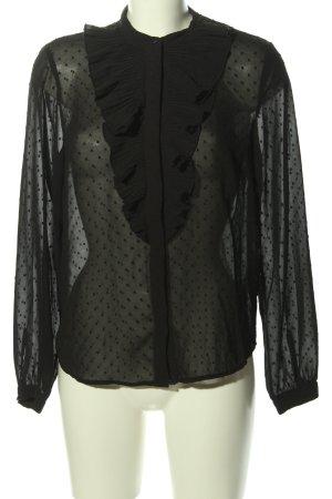 H&M Long Sleeve Blouse black allover print elegant