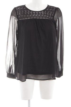 H&M Long Sleeve Blouse black casual look
