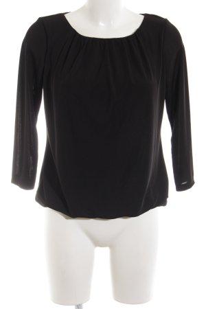 H&M Langarm-Bluse schwarz schlichter Stil