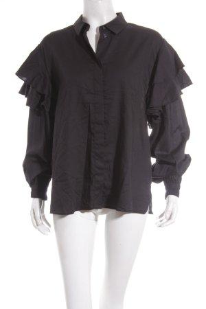 H&M Langarm-Bluse schwarz Street-Fashion-Look