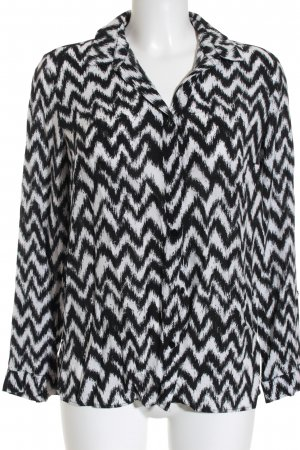 H&M Langarm-Bluse schwarz-weiß Casual-Look