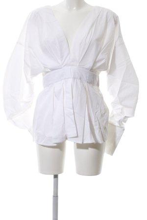 H&M Langarm-Bluse weiß Casual-Look