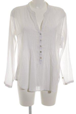 H&M Langarm-Bluse weiß klassischer Stil