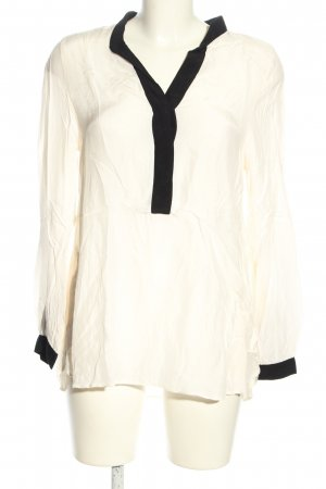 H&M Long Sleeve Blouse white-black casual look