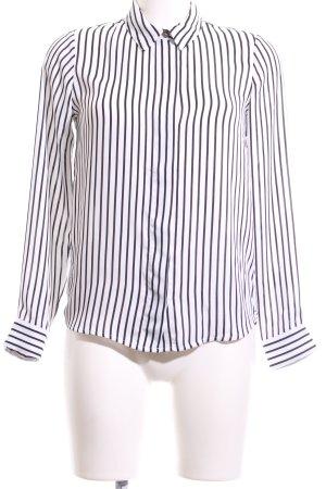 H&M Langarm-Bluse weiß-schwarz Streifenmuster Business-Look