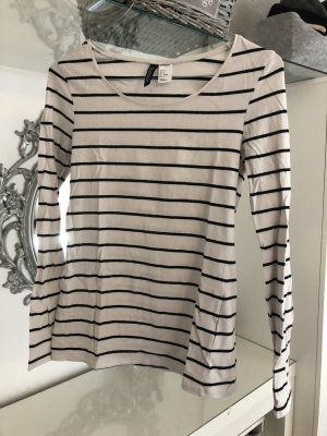 H&M Langarm Shirt Basic gestreift