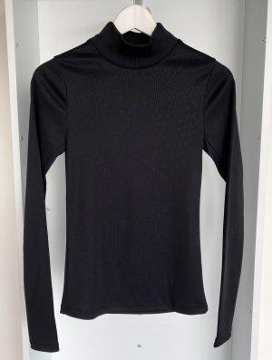 H&M - Langarm Shirt mit Rollkragen in Schwarz (ungetragen)