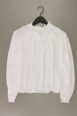 H&M Langarmbluse Größe 36 weiß aus Viskose