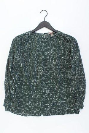 H&M Langarmbluse Größe 44 gepunktet grün aus Viskose