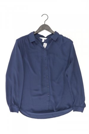 H&M Langarmbluse Größe L blau aus Polyester