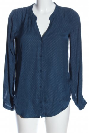 H&M Langarmhemd blau Punktemuster Business-Look