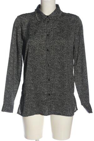 H&M Langarmhemd schwarz-weiß Punktemuster Business-Look