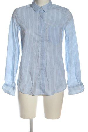H&M Langarmhemd blau Streifenmuster Business-Look