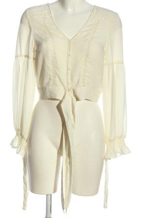 H&M Langarmhemd creme Elegant