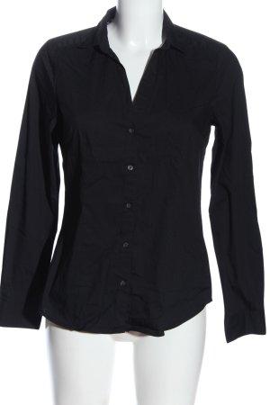 H&M Langarmhemd schwarz Business-Look