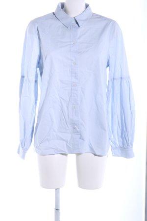 H&M Langarmhemd blau Business-Look