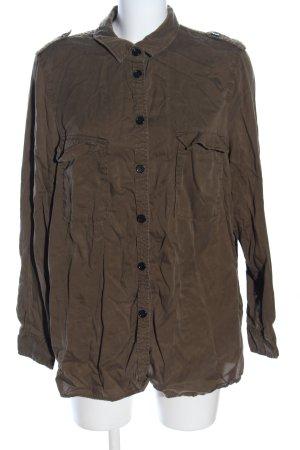 H&M Camicia a maniche lunghe marrone stile casual