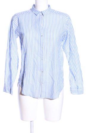 H&M Camicia a maniche lunghe blu-bianco motivo a righe stile professionale