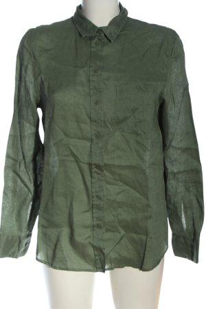 H&M Langarmhemd khaki Business-Look