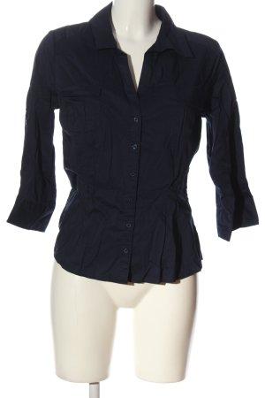 H&M Langarmhemd blau Casual-Look