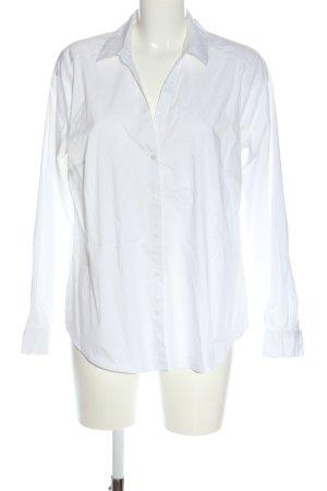 H&M Shirt met lange mouwen wit zakelijke stijl