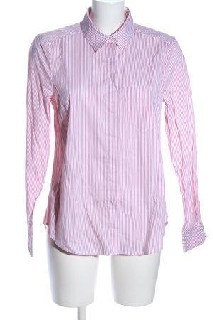 H&M Langarmhemd pink-weiß Streifenmuster Business-Look