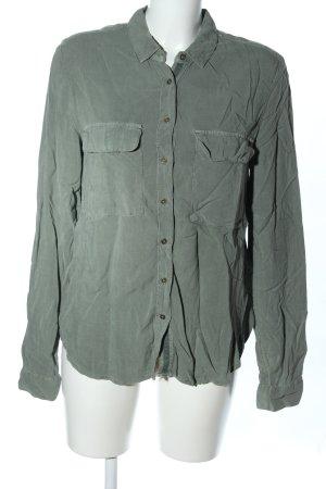 H&M Langarmhemd khaki Casual-Look