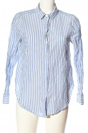 H&M Long Sleeve Shirt blue-white allover print casual look