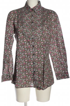 H&M Langarmhemd khaki-pink Allover-Druck Casual-Look