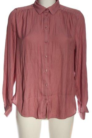 H&M Langarmhemd pink Streifenmuster Casual-Look