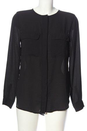 H&M Langarmhemd schwarz Casual-Look