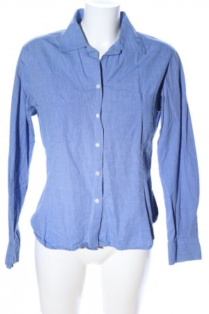 H&M Langarmhemd blau meliert Business-Look