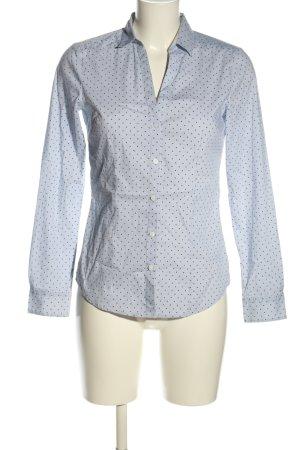 H&M Langarmhemd blau-weiß Punktemuster Casual-Look