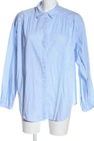 H&M Langarmhemd blau Allover-Druck Business-Look